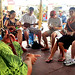People from all over the world learn how to play the ukulele at the University of Hawaii exhibit at the Smithsonian Folklife Festival.