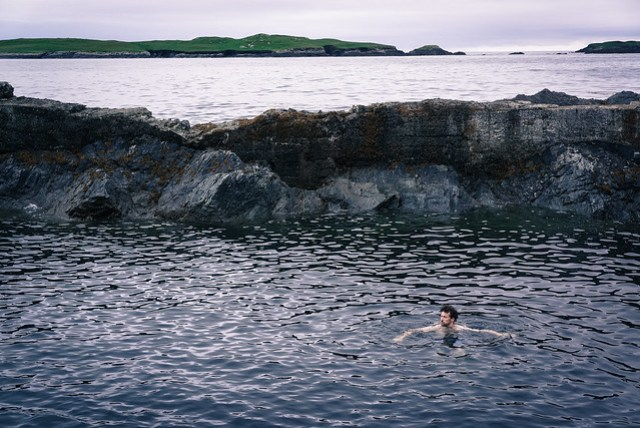 Wild swimming in Inishshark harbour