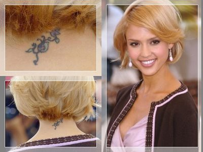 jessica alba's neck tattoo