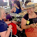 Hawaii Community College Instructor Noe Noe Wong-Wilson teaches lauhala weaving at the University of Hawaii exhibit at the Smithsonian Folklife Festival.