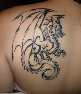 girls dragon tattoo design