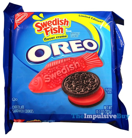Review limited edition swedish fish oreo cookies the for Swedish fish oreos