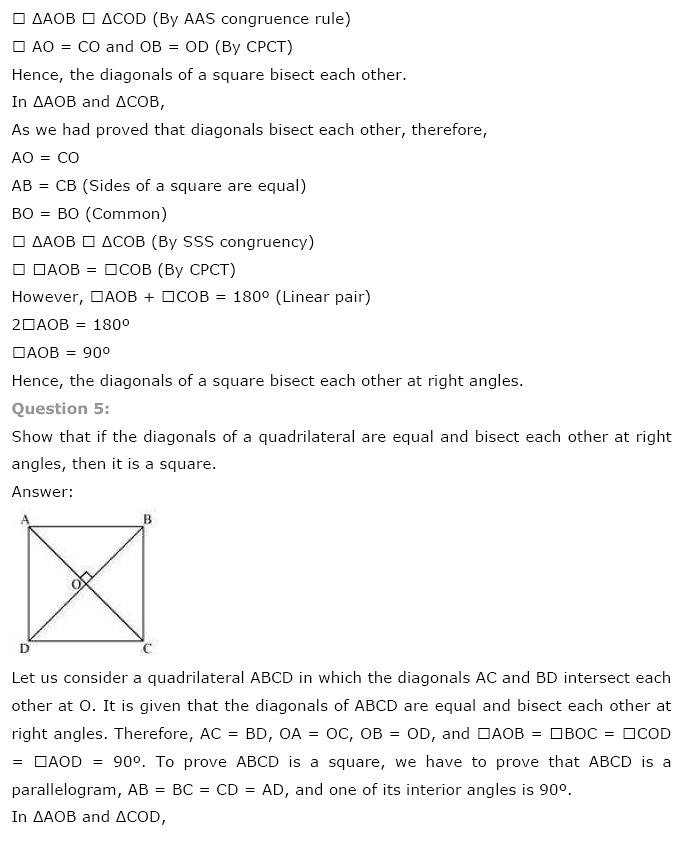 NCERT Solutions for Class 9th Maths: Chapter 8 Quadrilaterals Image by AglaSem