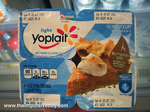 Yoplait Pumpkin Pie