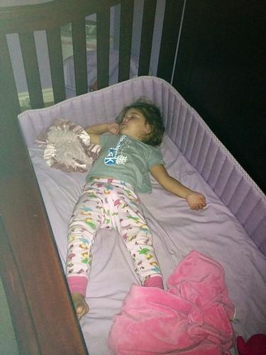last night in her crib