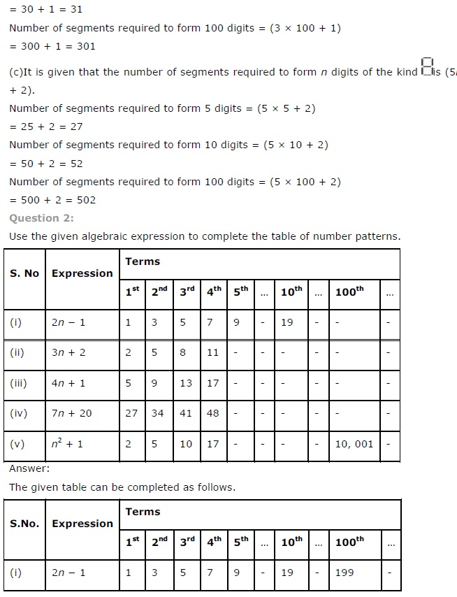 NCERT Solutions for Class 7th Maths Chapter 12   Algebraic Expressions Image by AglaSem