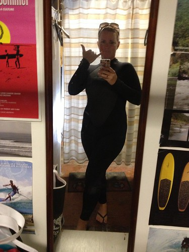 wet suits are such a good look for me.