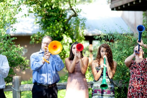 Vuvuzelas after the ceremony