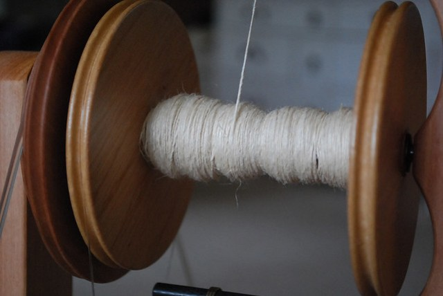 spinning hemp roving