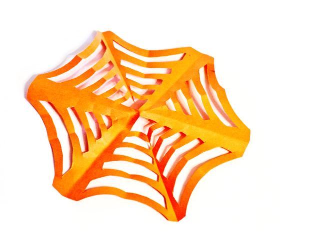 DIY Paper Spiderwebs - Finished!