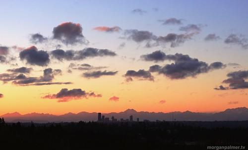 Seattle sunset, 1/23/13 by morganpalmerweather