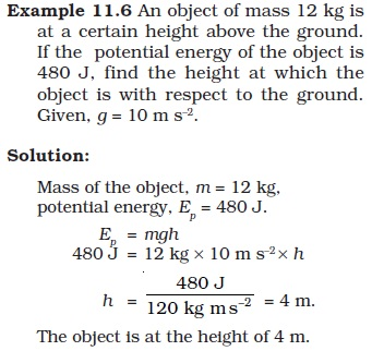 NCERT Class IX Science Chapter 11 Word and Energy