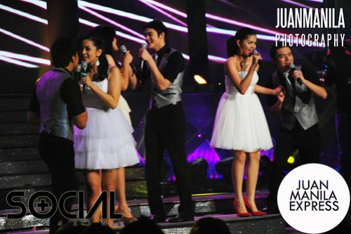 Artista Academy Top 6 finalists during their song number.
