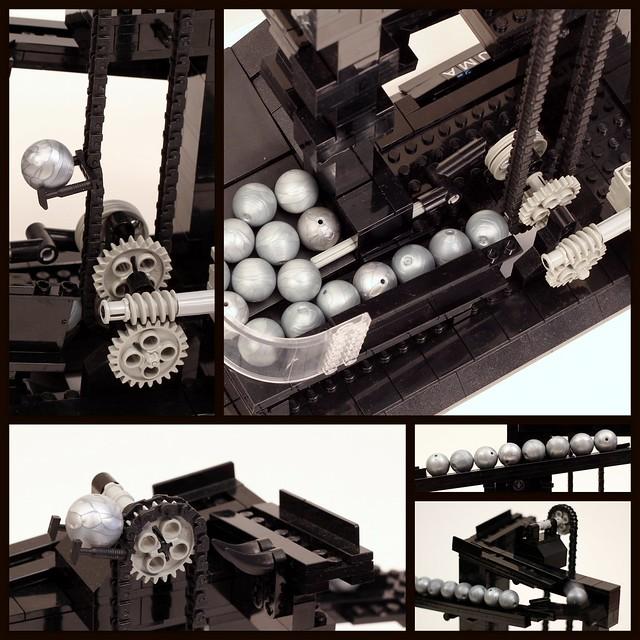 LEGO Ball Clock - Details