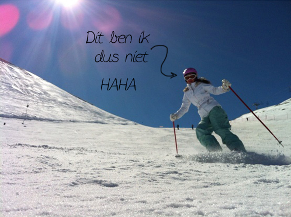 Zélia en wintersport