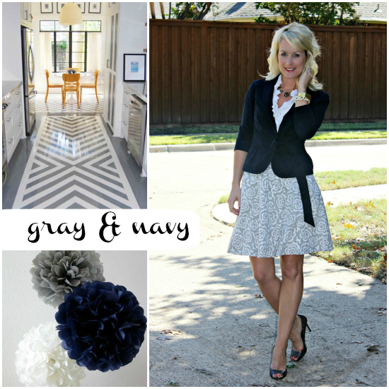 Gray & Navy outfit