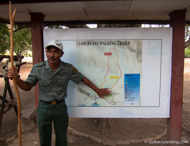 A guide explains the local trains around Rinca Island