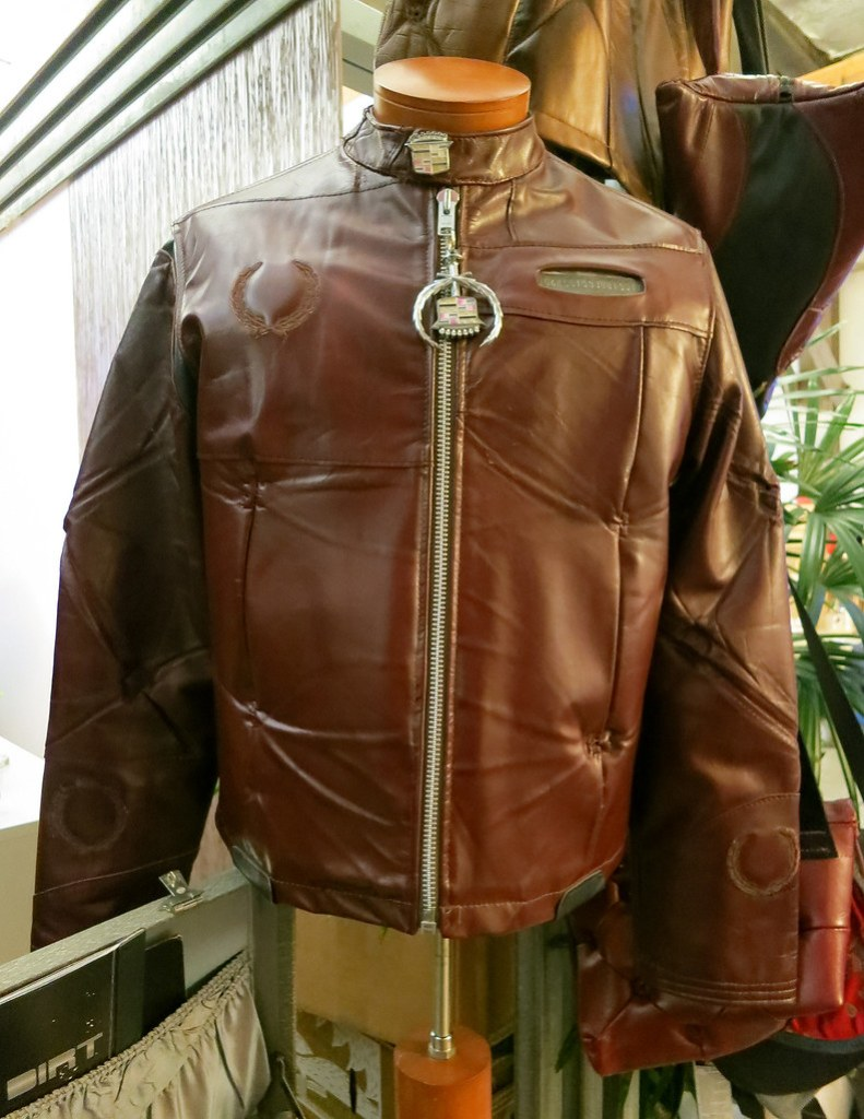 A Motorcycle Jacket Made Out of Cadillac Upholstery & Parts