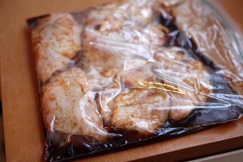 marinating chicken teriyaki