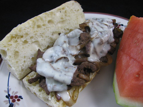 Healthy Cheesesteak Sandwiches