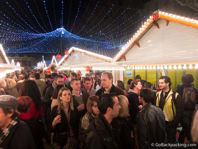 Annual wine festival in Avignon