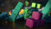 Tetris Collision, Texturing, Lighting, and DOF Test