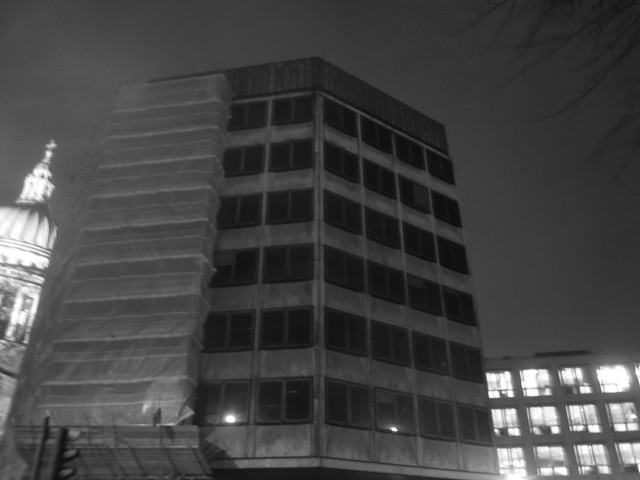 Brutalist Building Near St. Pauls, London