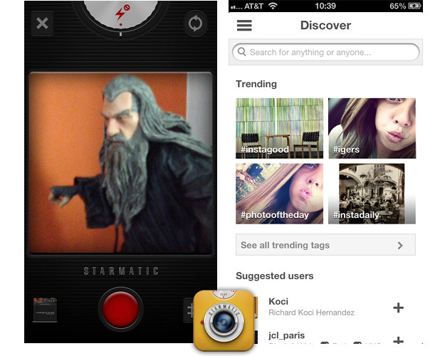 Starmatic — Alternativas a Instagram para iOS