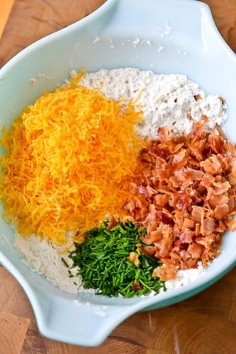 Bacon, Cheddar & Chive Scones-4