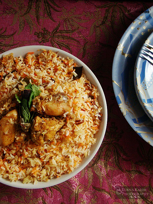 Chicken Dum Biryani - Hyderabadi Style