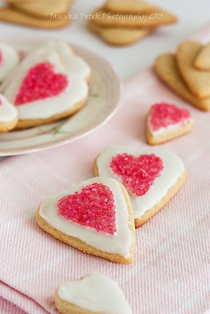 Valentine`s cookie hearts