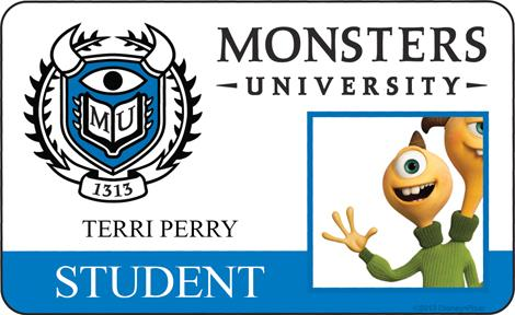 Monster University - Terri Perry ID