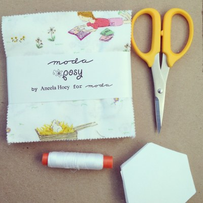 Posy--english paper piecing