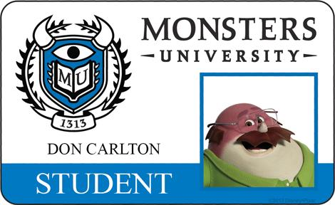 Monster University - Don Carlton ID