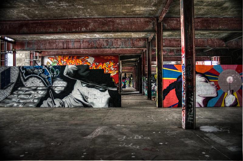Teufelsberg Berlin Graffiti abandoned buildings