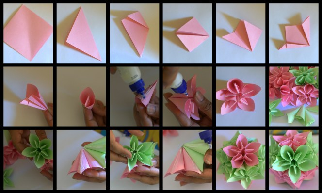 Making of Kusudama Morning Dew