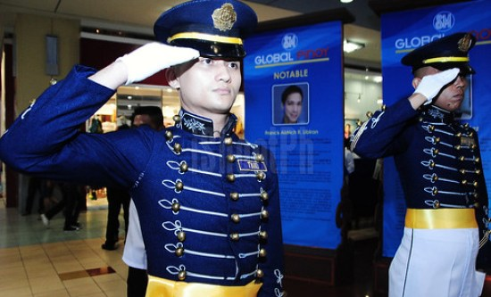 Honoring guardsmen saluting the official launch of Global Pinoy Center and Outstanding Global Pinoys.