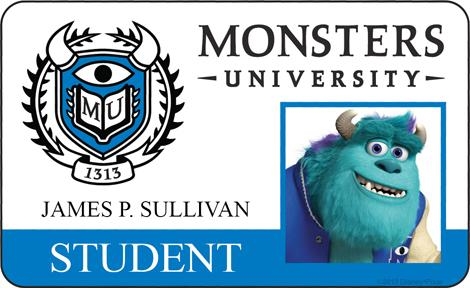 Monster University - James P Sullivan ID