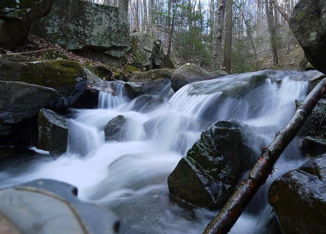 rocky cascade on Rhinehart Brook