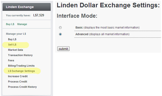 How to sell Lindens $L