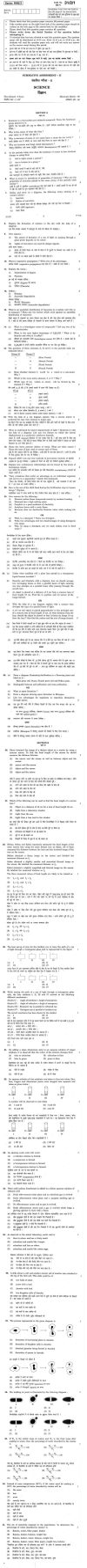CBSE Class X Previous Year Question Papers 2011: Science