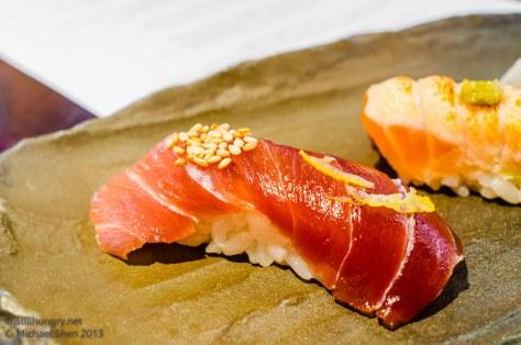 Ocean Room bluefin tuna nigiri