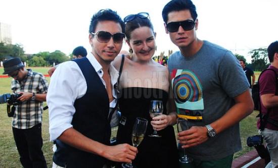 Lucas Raven, Fabio ide, and their pretty friend.