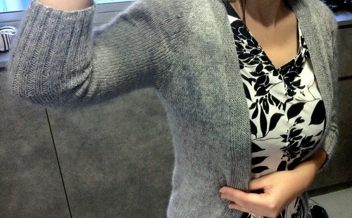 My grey cashmere cardigan 2