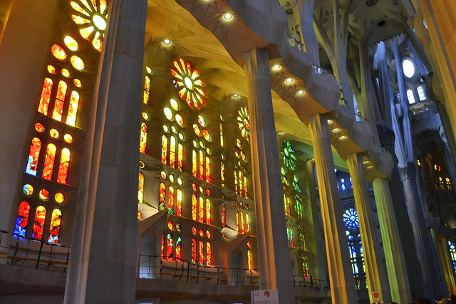 Weekend in Barcelona_Sagrada Familia Interior