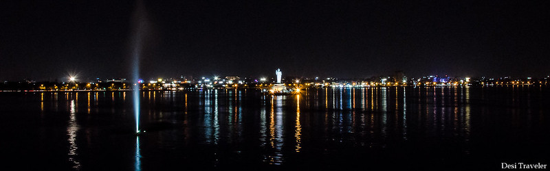Hussain Sagar Buddha in Night  World Tourism Day