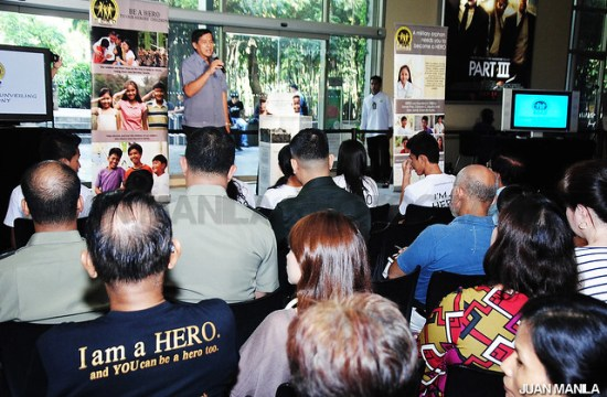 Jun Bisnar sharing the advocacy of HERO Foundation.