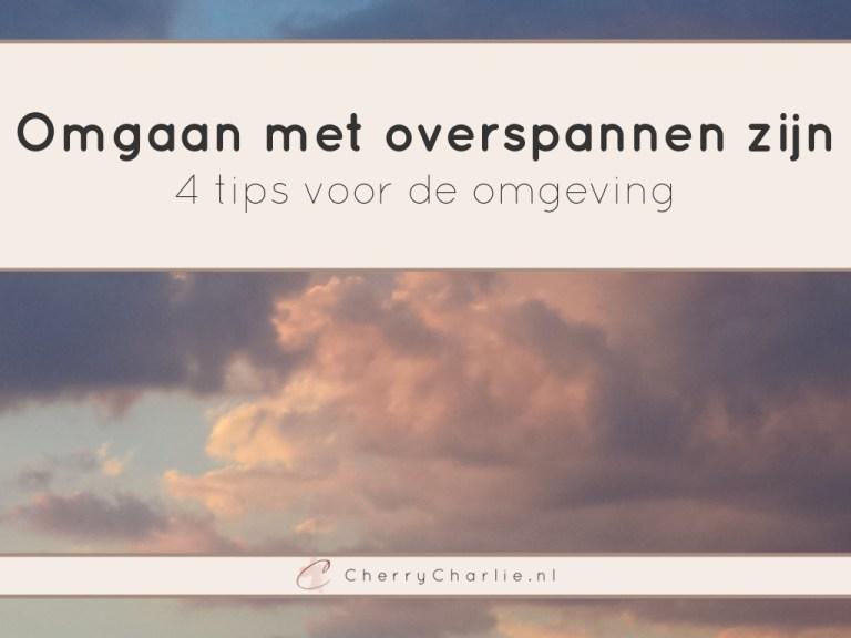 Omgaan met overspannen zijn - 4 tips voor de omgeving • CherryCharlie.nl