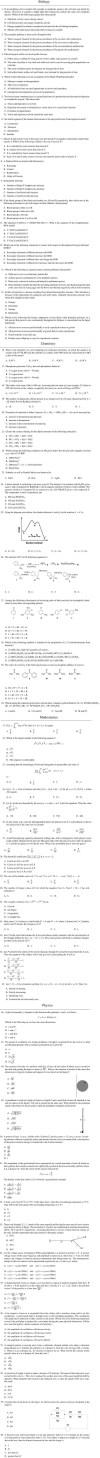 IISER Aptitude Test Model Paper