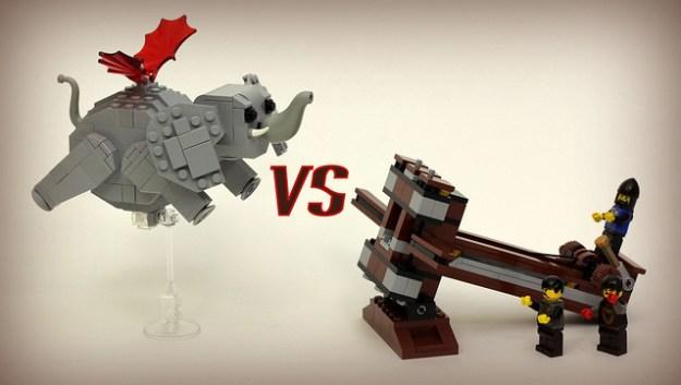 Flying Elephant VS LEGO Ballista. Fight!